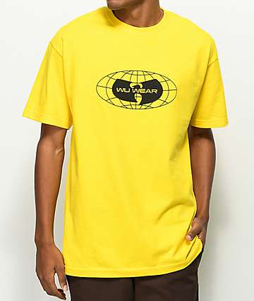 Wu-Wear Globe Logo Yellow T-Shirt