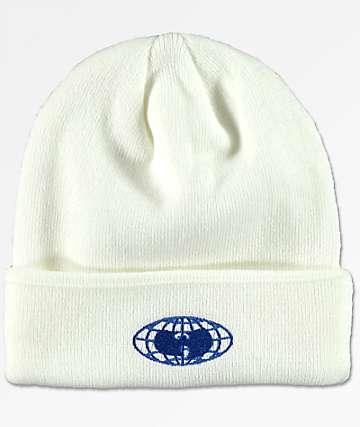 Wu Wear Wu-Tang Globe Logo White Beanie