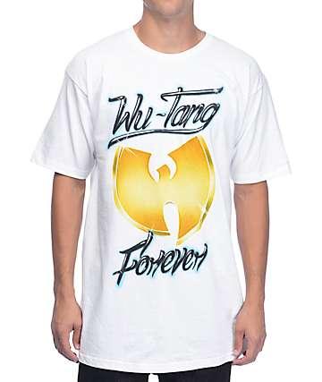 Wutang Airbrush camiseta en blanco