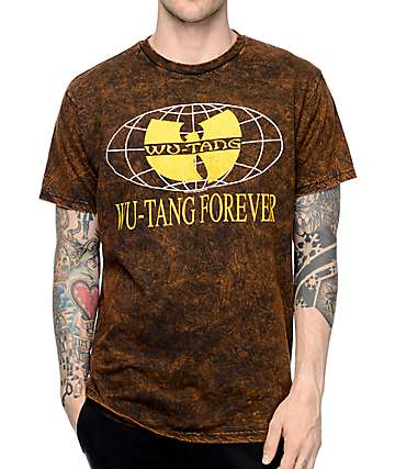 Wutang Forever Tour Black Acid Wash T-Shirt