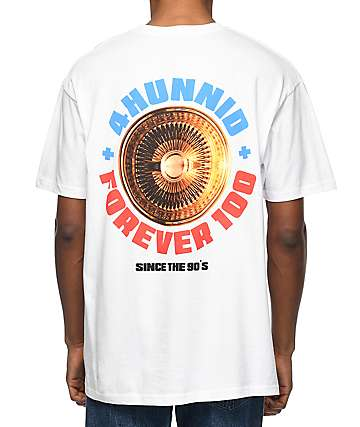 YG 4 Hunnid Spoke White T-Shirt