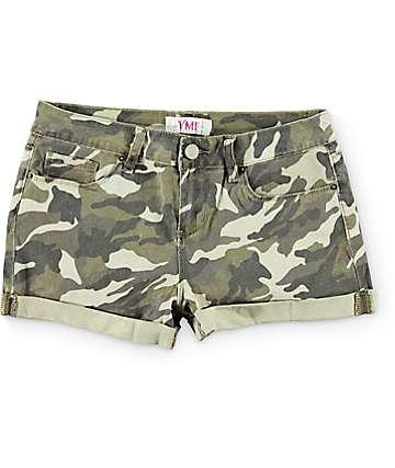 YMI Camo Print Shorts