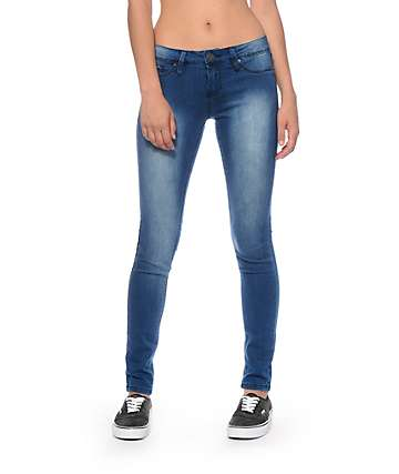 YMI Super Soft Medium Wash Skinny Jeans