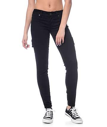 YMI WannaBettaButt Black Cargo Skinny Jeans