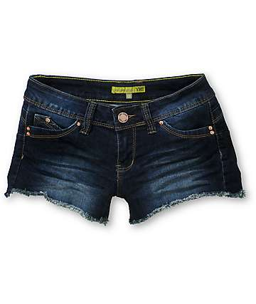 YMI WannaBettaButt Dark Wash Denim Shorts
