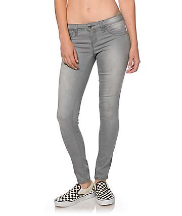 YMI WannaBettaButt Grey Jeggings