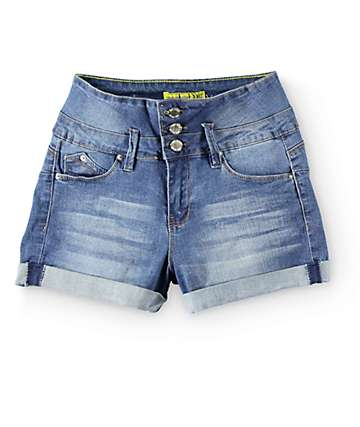 YMI WannaBettaButt High Waisted Denim Shorts