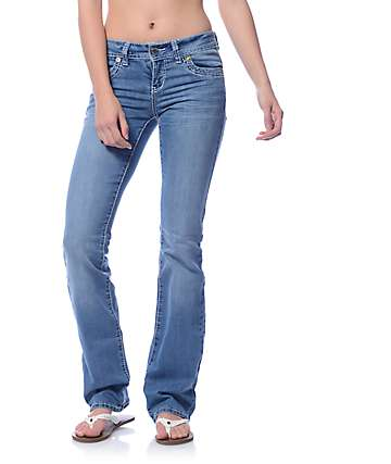 YMI WannaBettaButt Medium Blue Heavy Stitch Boot Cut Jeans