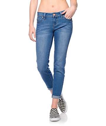 YMI WannaBettaButt Medium Rayon Rollup Skinny Jeans