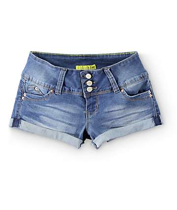YMI WannaBettaButt Medium Wash Denim Shorts