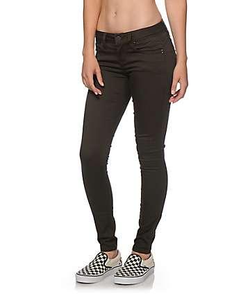 YMI WannaBettaButt Olive Twill Skinny Jeans