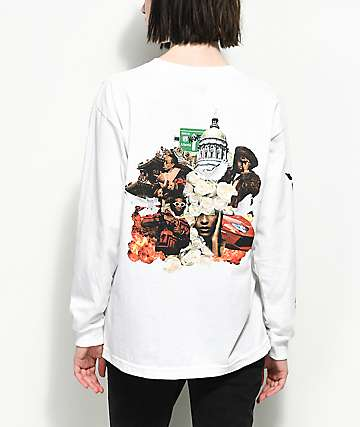 YRN Culture Album White Long Sleeve T-Shirt