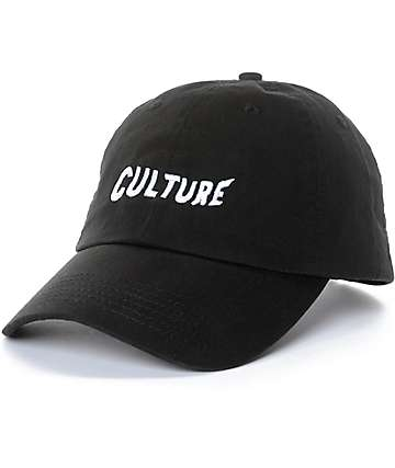 YRN Culture Black Strapback Hat