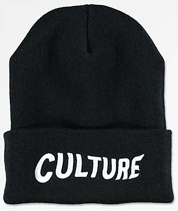 YRN Culture Logo Black Beanie