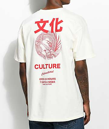YRN International Culture camiseta en color marfil