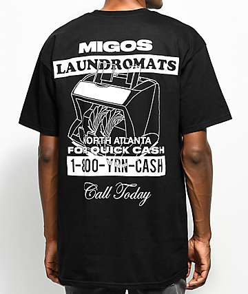 YRN Migos Laundromats Black T-Shirt