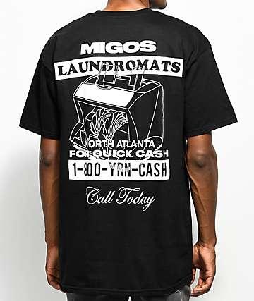 YRN Migos Laundromats camiseta negra