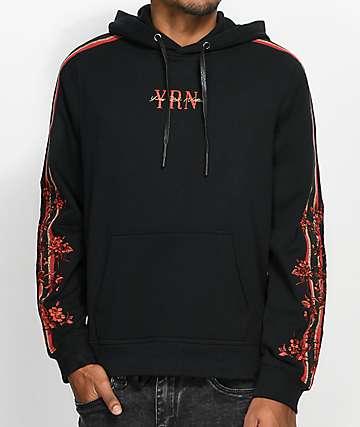 YRN Rack Suit sudadera negra con capucha