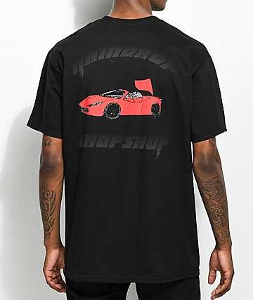 YRN Raindrop Auto Shop camiseta negra