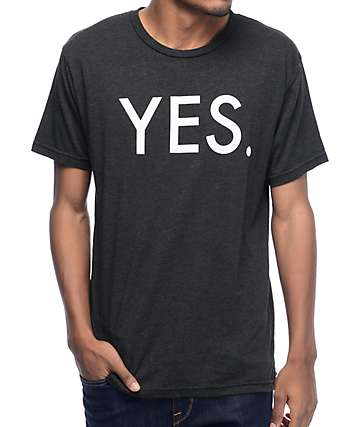 Yes Logo Black T-Shirt