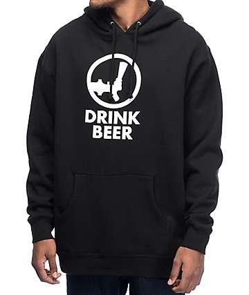 Yobeat Drink Beer Black Hoodie