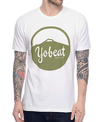 Yobeat Mountain White T-Shirt