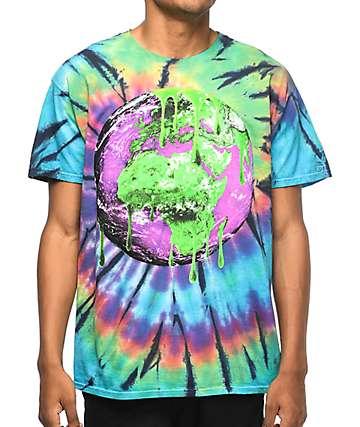 Young Thug Earth Slime Swirl camiseta con efecto tie dye