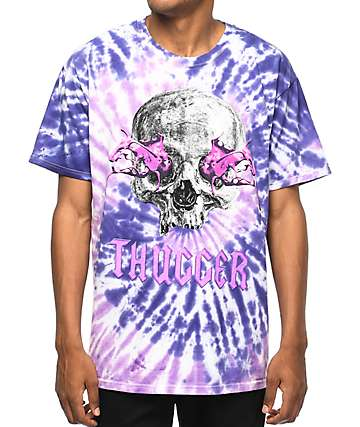 Young Thug Slime Skull Thugger Tie Dye T-Shirt