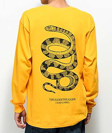 Young Thug Thugger Snake Yellow Long Sleeve T-Shirt