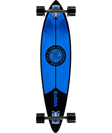 "Z-Flex Blue and Black 38"" Pintail Longboard Complete"