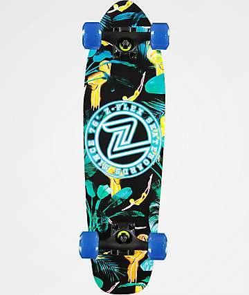 "Z-Flex Dos Flamingo 27.5"" Cruiser Complete Skateboard"