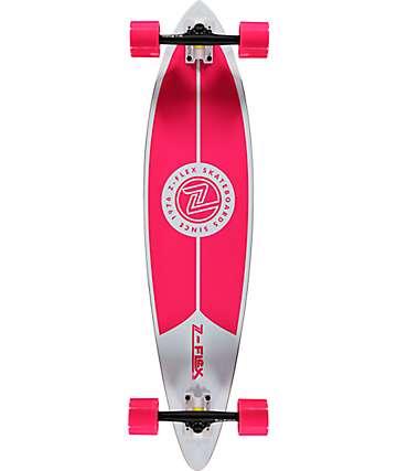 """Z-Flex Pink 38"""" Pintail Longboard Complete"""