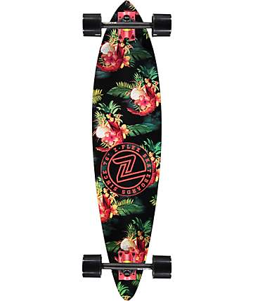 "Z-Flex Prawn Cocktail 39"" Pintail Longboard Complete"