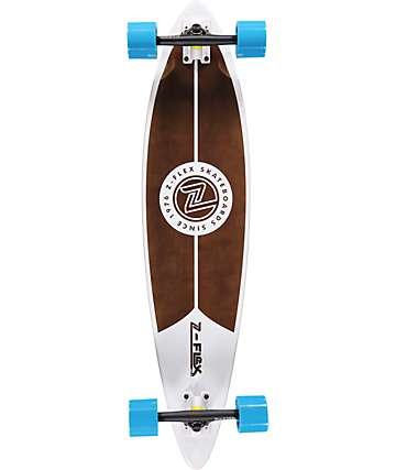 "Z-Flex White 38"" Pintail Longboard Complete"