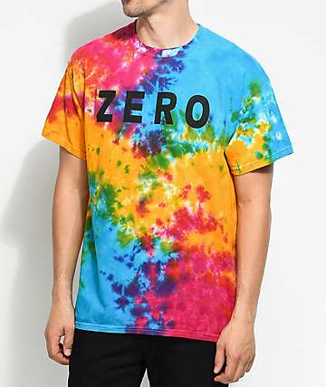 Zero Army camiseta con efecto tie dye