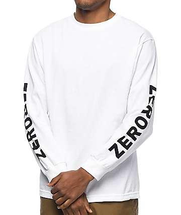 Zero Negative Zero camiseta blanca de manga larga