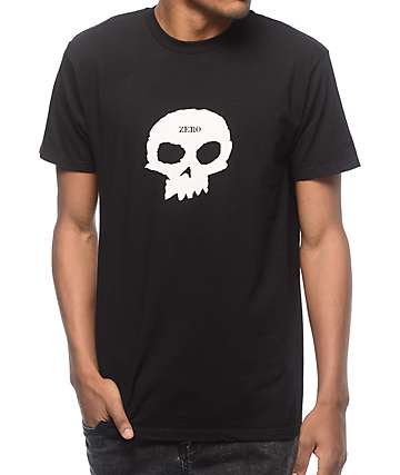 Zero Single Skull camiseta negra