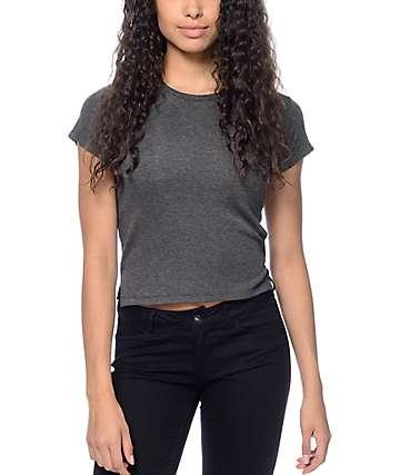 Zine Alaia Ribbed Grey T-Shirt
