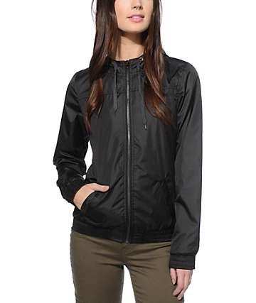 Zine Ali chaqueta cortaviento negro