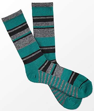 Zine Alright calcetines a rayas en gris y verde azulado