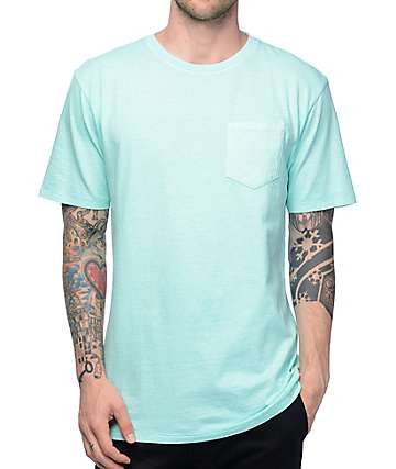 Zine Alta Blue Pigment Dye Pocket T-Shirt