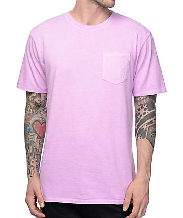 Zine Alta Purple Pigment Dye Pocket T-Shirt