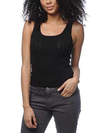 Zine Aurelia camiseta corta sin mangas en negro
