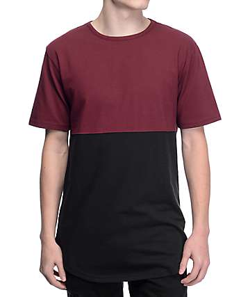 Zine Better Half Burgundy & Black T-Shirt