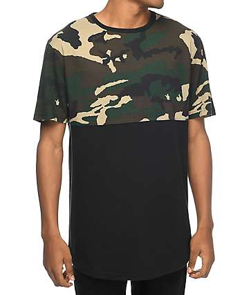 Zine Better Half Woodland Camo & Black T-Shirt