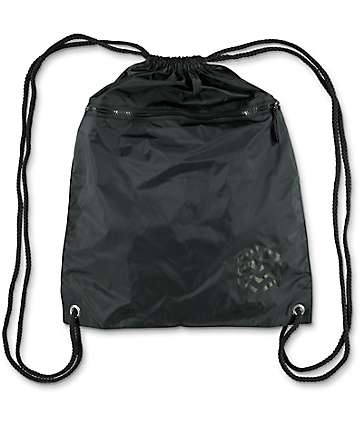 Zine Black Cinch Bag