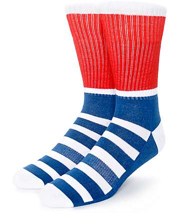 Zine Blast Thick Stripe Crew Socks