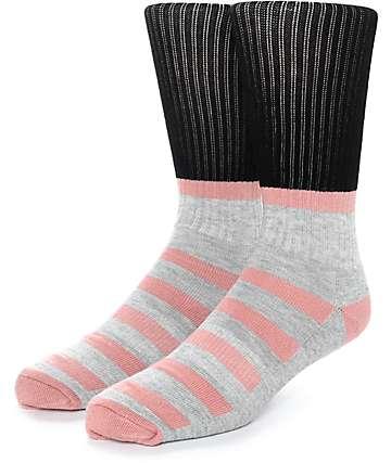 Zine Blast calcetines en negro, gris y color melocotón
