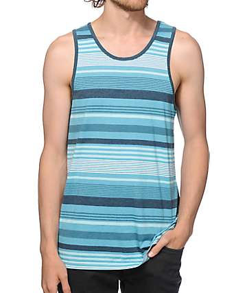 Zine Blue Sky Striped Tank Top