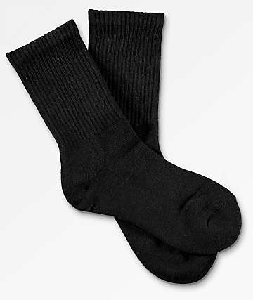 Zine Boys Black Crew Socks